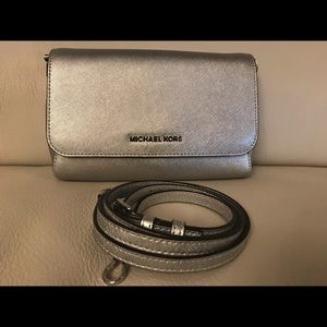 MICHAEL KORS Leather Pouchette/Crossbody
